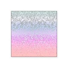 "Glitter Star Dust 11 Square Sticker 3"" x 3"""