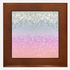 Glitter Star Dust 11 Framed Tile