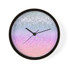 Glitter Star Dust 11 Wall Clock