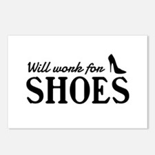 Will work for shoes Postcards (Package of 8)