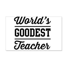 World's goodest teacher Wall Decal