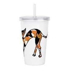 Sweet Calico Kitty Acrylic Double-wall Tumbler
