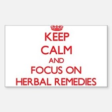 Keep Calm and focus on Herbal Remedies Decal