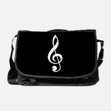 Treble Clef Music grunge Messenger Bag