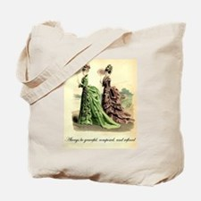 Be Refined: Victorian Etiquette Tote Bag
