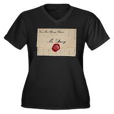 Mr Darcy Lov Women's Plus Size V-Neck Dark T-Shirt