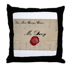 Mr Darcy Love Letter Throw Pillow