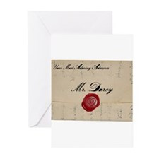 Mr Darcy Love Letter Greeting Cards (Pk of 20)
