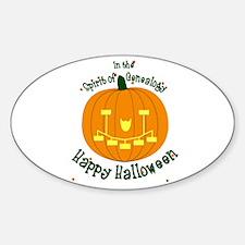 Genealogy Halloween Pumpkin Decal