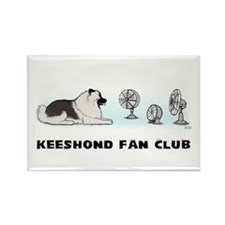 Keeshond Fan Club Rectangle Magnet