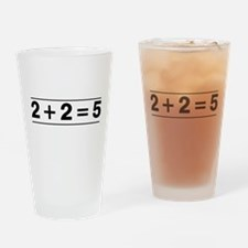 2 + 2 = 5 Drinking Glass