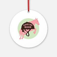 Live To Ride Ornament (Round)