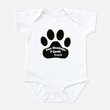 Paw Readings...5 Treats Infant Bodysuit
