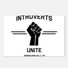 Introverts Unite Individually Postcards (Package o