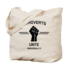 Introverts Unite Individually Tote Bag