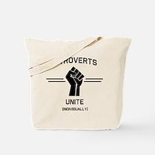Introverts Unite Individually Tote Bag