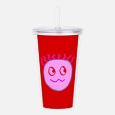 Cute Pink Red Goofball Acrylic Double-Wall Tumbler
