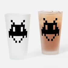 8-bit alien Drinking Glass