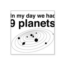 In my day 9 planets Sticker