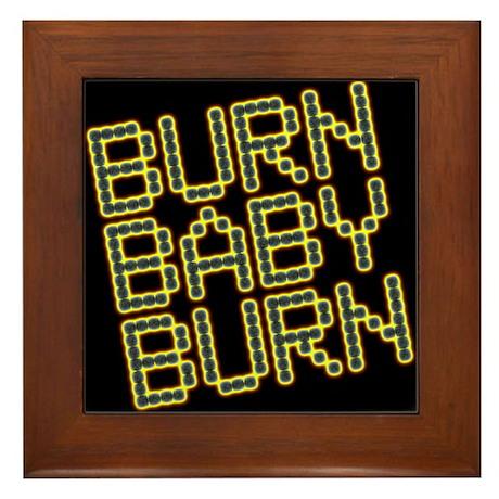 Burn Baby Burn<br>Wood & Ceramic Hot Pad