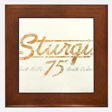 Sturgis 75th Anniversary Framed Tile