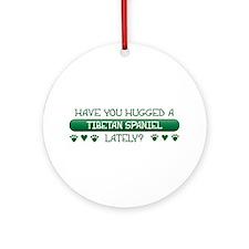 Hugged Tibbie Ornament (Round)