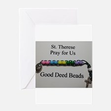 St. Therese Good Deed Beads Greeting Cards