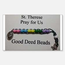 St. Therese Good Deed Beads Decal