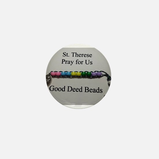 St. Therese Good Deed Beads Mini Button (100 pack)