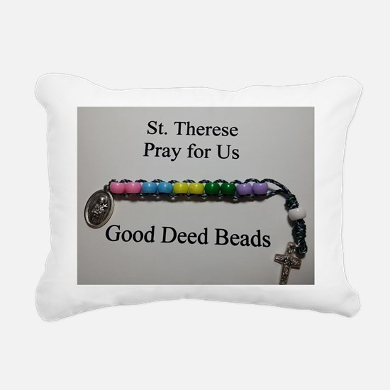 St. Therese Good Deed Beads Rectangular Canvas Pil