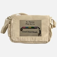 St. Therese Good Deed Beads Messenger Bag