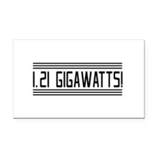 1.21 gigawatts! Rectangle Car Magnet