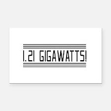 1.21 gigawatts! Rectangle Car Magnet