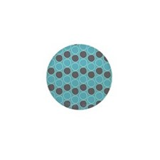 Circles Pattern Mini Button