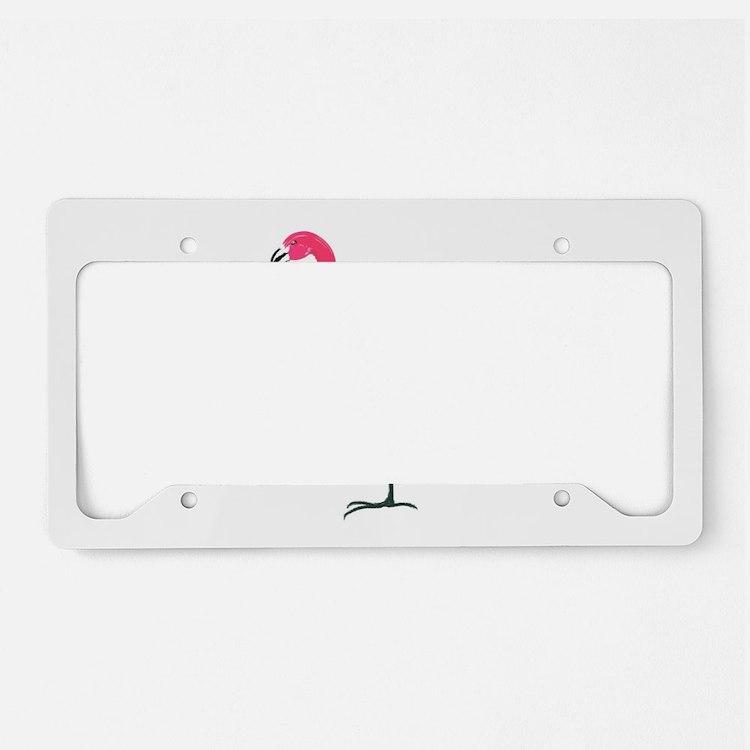 Flamingo License Plate Holder