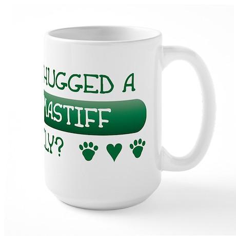 Hugged Mastiff Large Mug