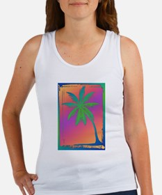 Psychedelic Palm Dree Silhouette Tank Top