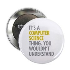 """Its A Computer Science Thin 2.25"""" Button (10 pack)"""