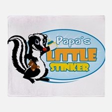 Papa's Little Stinker Throw Blanket