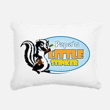 Papa's Little Stinker Rectangular Canvas Pillow