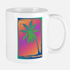 Psychedelic Palm Dree Silhouette Mugs