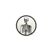 I have a human skeleton in my office Mini Button