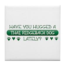 Hugged Ridgeback Tile Coaster