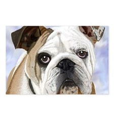 Cute Bulldog puppy Postcards (Package of 8)