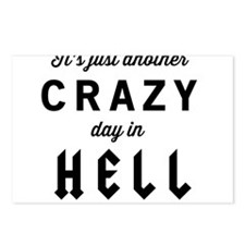It's just another CRAZY day in HELL Postcards (Pac