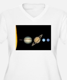 Scale Solar System Planets Plus Size T-Shirt