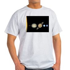 Scale Solar System Planets T-Shirt