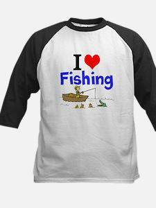 I Love Fishing Baseball Jersey