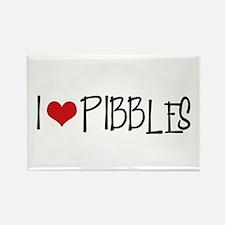 I Love Pibbles! Rectangle Magnet
