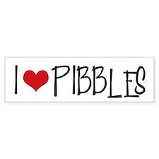 I Love Pibbles! Bumper Car Sticker